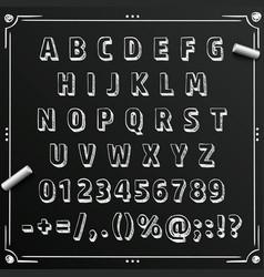 chalkboard sketch font abc sign set letter vector image vector image