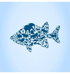 Fish an animal vector image vector image