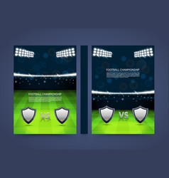 flyer football championship banner book cover vector image vector image