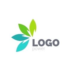 Green leaf logo design Four leaves health vector image vector image