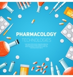 Pharmacology technologies vector image vector image