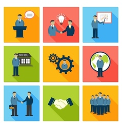Collection of flat business people vector image vector image