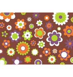 flowers abstract pattern vector image vector image