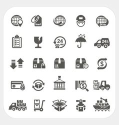 Logistics and Shipping icons set vector image