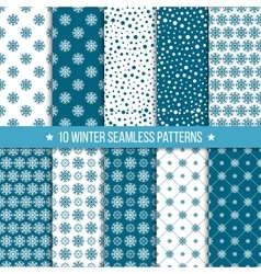 Monochrome seamless pattern with snowflakes vector image