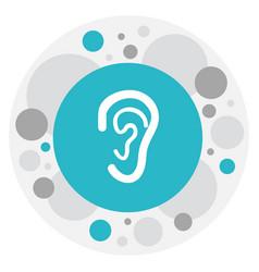 Of hospital symbol on ear icon vector