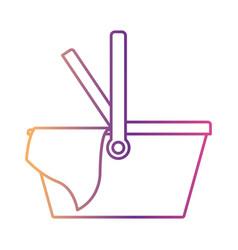 picnic basket icon in gradient color silhouette vector image vector image