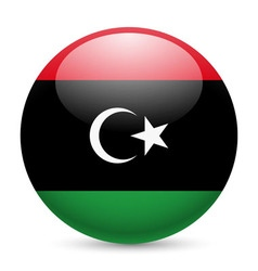 Round glossy icon of libya vector image vector image