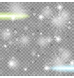 Shiny starry transparent sparkling effect vector image vector image