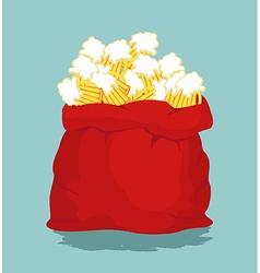 Big bag with mug beer for Oktoberfest sack full vector image vector image