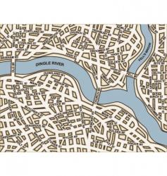 generic streets vector image vector image