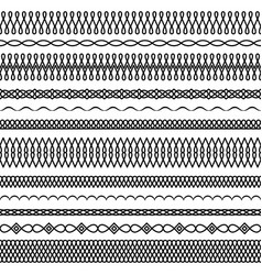 set seamless twisted brushes 1 vector image