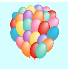 a cloud of balloons gift vector image