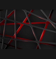 Abstract digital technology future metal red vector