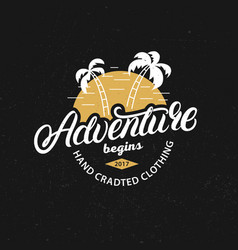 Adventure hand written lettering c vector