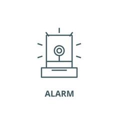 alarmlight industry line icon alarm vector image