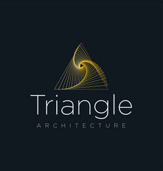 architecture logo company triangle logo concept vector image