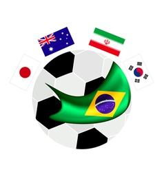 Asia Zone Qualification in A Brazil 2014 vector image