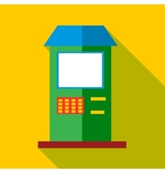ATM icon flat style vector