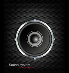 background with speaker and music bar vector image