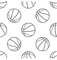 basketball ball seamless pattern sport symbol vector image