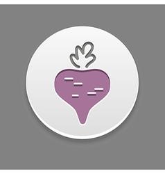 Beet icon Vegetable vector