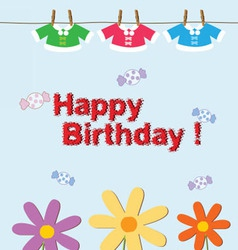 birthday fashion kids cute vector image