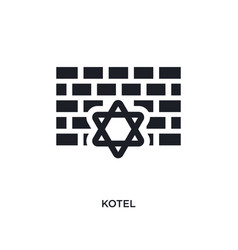 Black kotel isolated icon simple element from vector