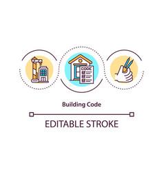 Building code concept icon vector