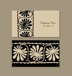 business cards design ethnic floral ornament vector image