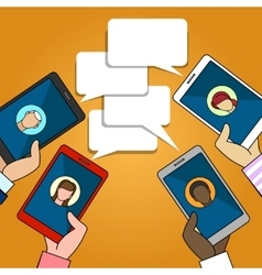 Chat connection vector image
