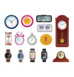 Clock and watch evolution set vector