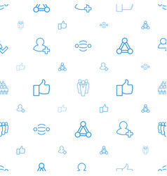 community icons pattern seamless white background vector image
