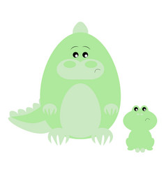 Crocodile and frog sad vector