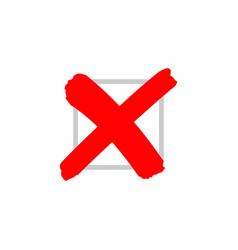 cross sign or x mark icon no symbol vector image