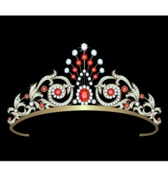 Diadem with diamonds vector image