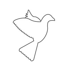 dove silhouette icon vector image