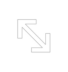 Expand arrow flat icon vector