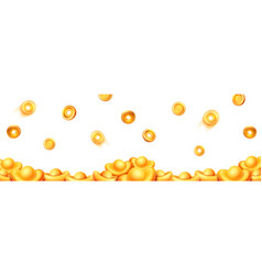 Falling chinese golden coins and ingots isolated vector