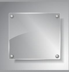 glass board vector image