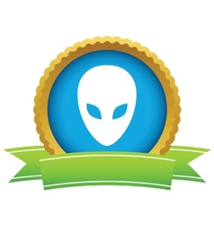 Gold extraterrestrial logo vector