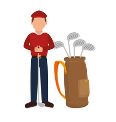 Golf sport golfer emblem icon vector