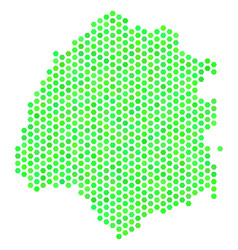 Green hex tile thassos greek island map vector