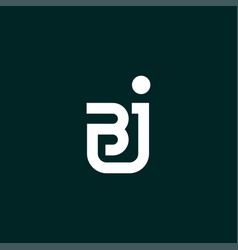 Initials bj logo is simple and modern vector