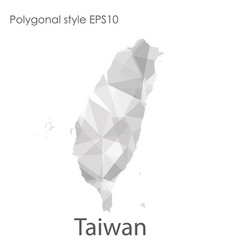 Isolated icon taiwan map polygonal geometric vector