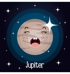 jupiter planet character space background vector image