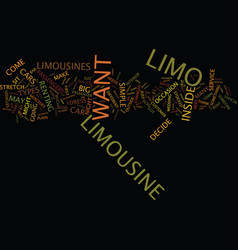 Limousine service advice text background word vector