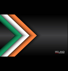 Modern overlayed arrows with irish colors vector