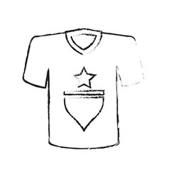 monochrome blurred silhouette of t-shirt sport vector image