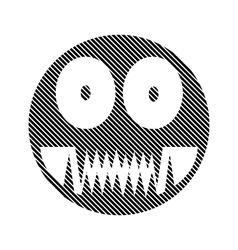 Monster sign on white vector